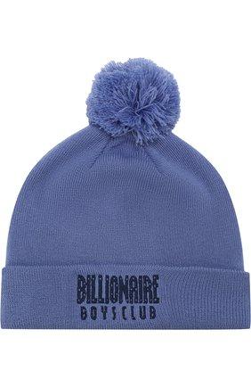 Шапка с помпоном Billionaire Boys Club синего цвета | Фото №1