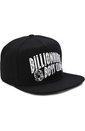 Бейсболка с логотипом бренда Billionaire Boys Club темно-синего цвета | Фото №1
