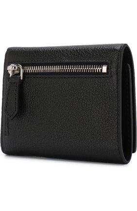 Кожаный кошелек с логотипом бренда Givenchy черного цвета | Фото №2