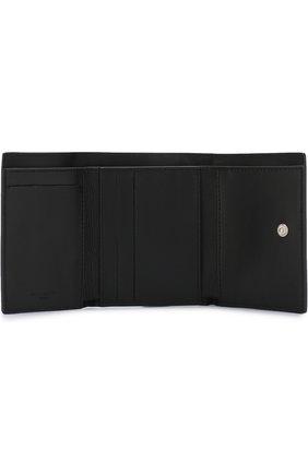 Кожаный кошелек с логотипом бренда Givenchy черного цвета | Фото №3