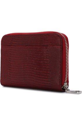 Женские кожаный кошелек на молнии с логотипом бренда DOLCE & GABBANA красного цвета, арт. BI0920/AH330 | Фото 2