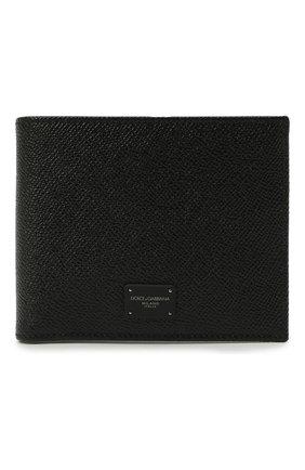 Мужской кожаное портмоне с отделениями для кредитных карт и монет DOLCE & GABBANA черного цвета, арт. BP0457/AI359 | Фото 1