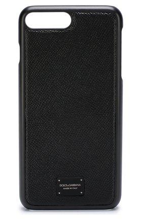 Кожаный чехол для iPhone 7/8 Plus Dolce & Gabbana  | Фото №1