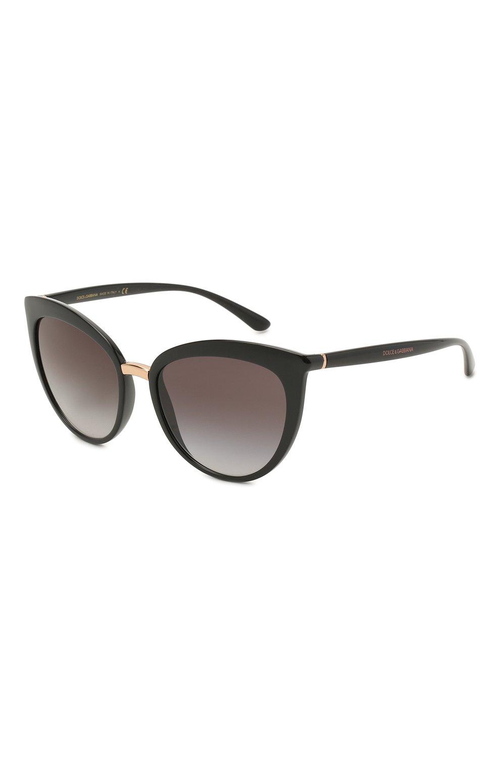 Женские солнцезащитные очки DOLCE & GABBANA черного цвета, арт. 6113-501/8G   Фото 1