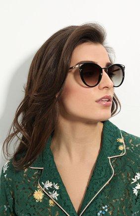 Женские солнцезащитные очки PRADA черного цвета, арт. 66TS-1AB0A7   Фото 2