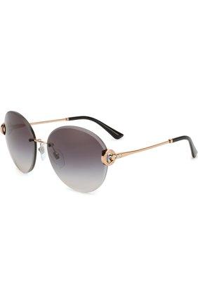 Женские солнцезащитные очки BVLGARI черного цвета, арт. 6091B-20148G | Фото 1