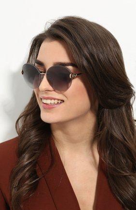 Женские солнцезащитные очки BVLGARI черного цвета, арт. 6091B-20148G | Фото 2