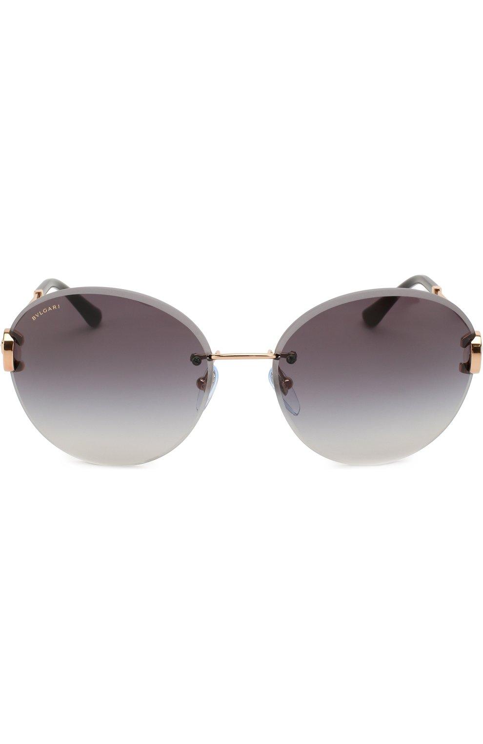 Женские солнцезащитные очки BVLGARI черного цвета, арт. 6091B-20148G | Фото 3