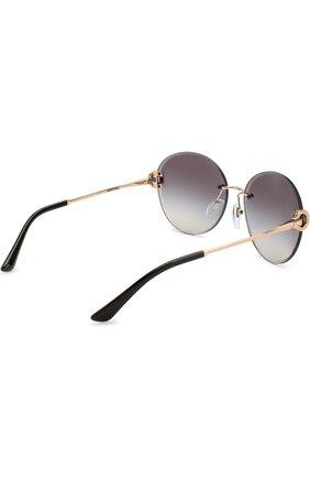 Женские солнцезащитные очки BVLGARI черного цвета, арт. 6091B-20148G | Фото 4