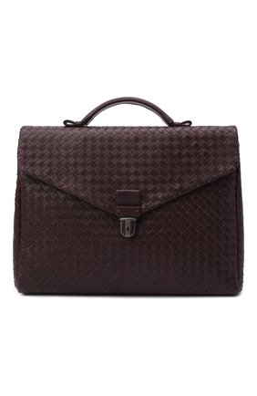 Мужской кожаный портфель BOTTEGA VENETA бордового цвета, арт. 113095/V4651 | Фото 1