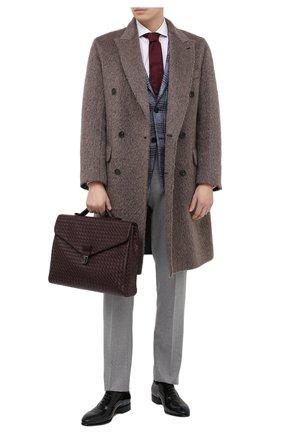 Мужской кожаный портфель BOTTEGA VENETA бордового цвета, арт. 113095/V4651 | Фото 2