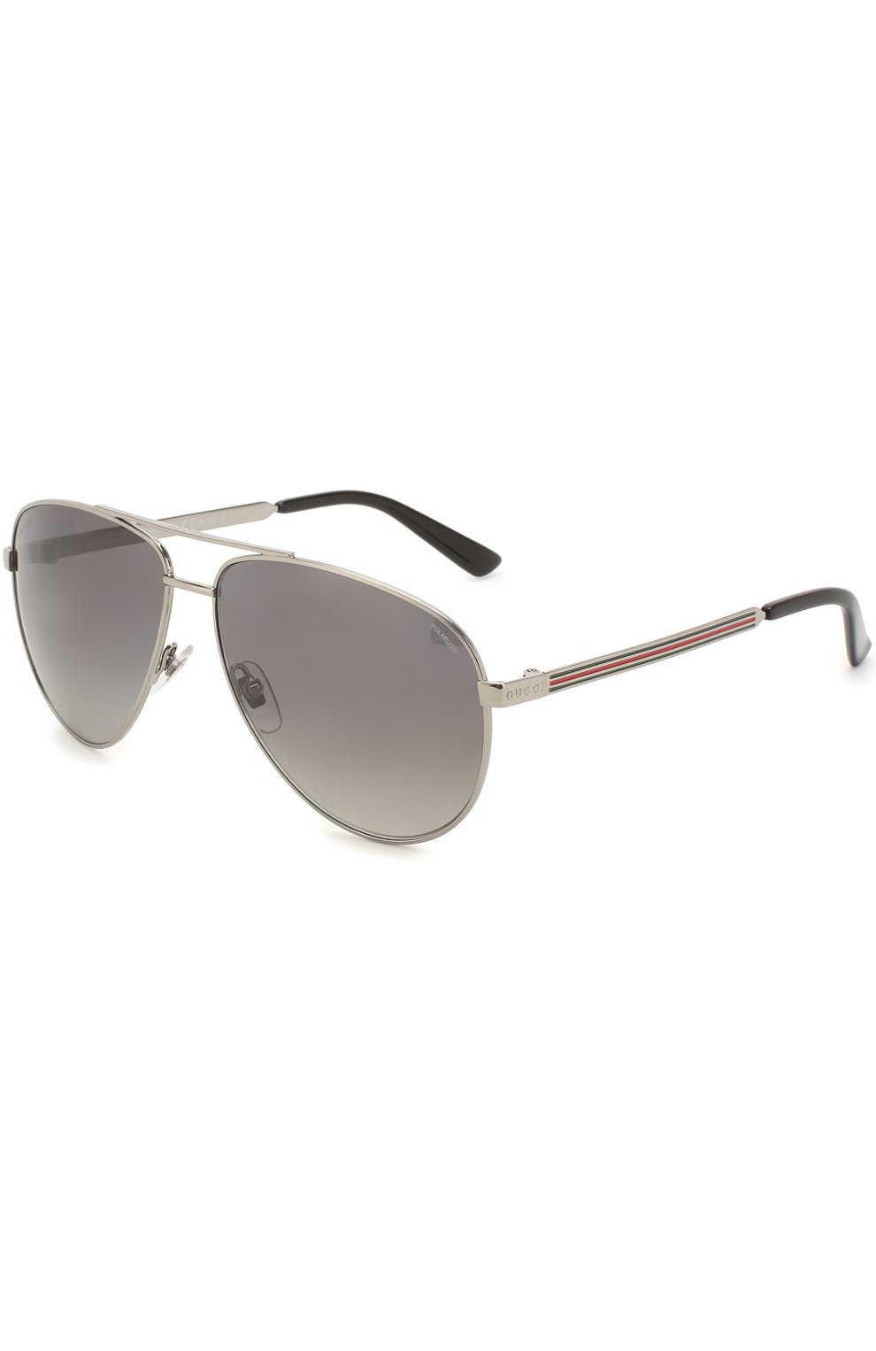 Женские солнцезащитные очки GUCCI серебряного цвета, арт. 2281 6LB   Фото 1
