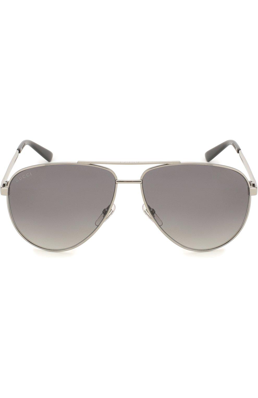 Женские солнцезащитные очки GUCCI серебряного цвета, арт. 2281 6LB   Фото 2