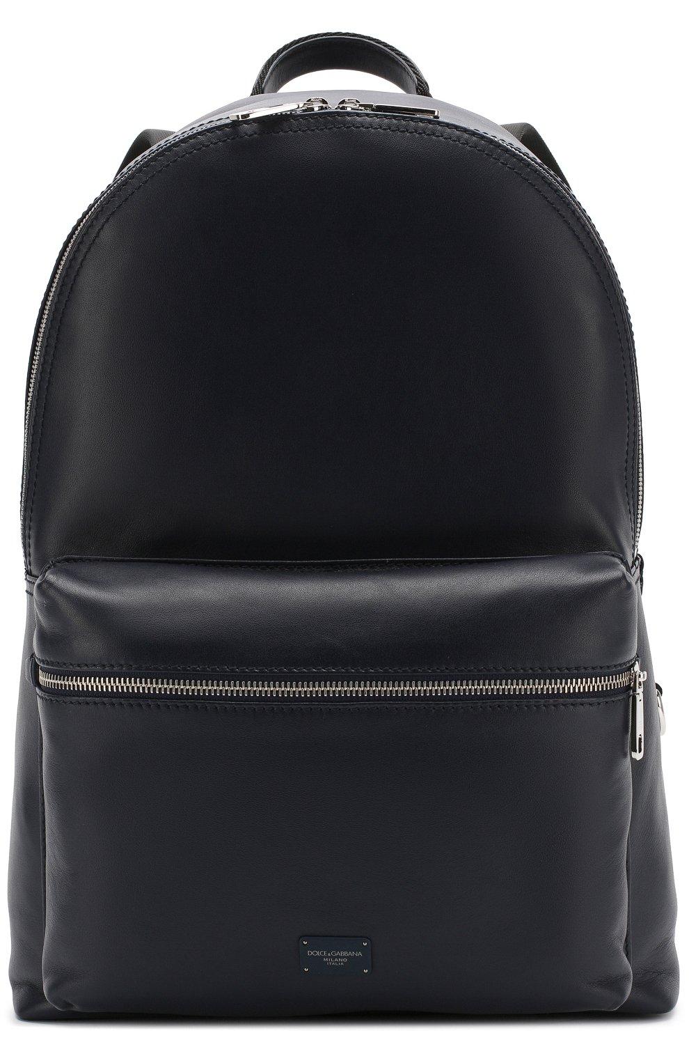 Кожаный рюкзак Vulcano с внешним карманом на молнии | Фото №1