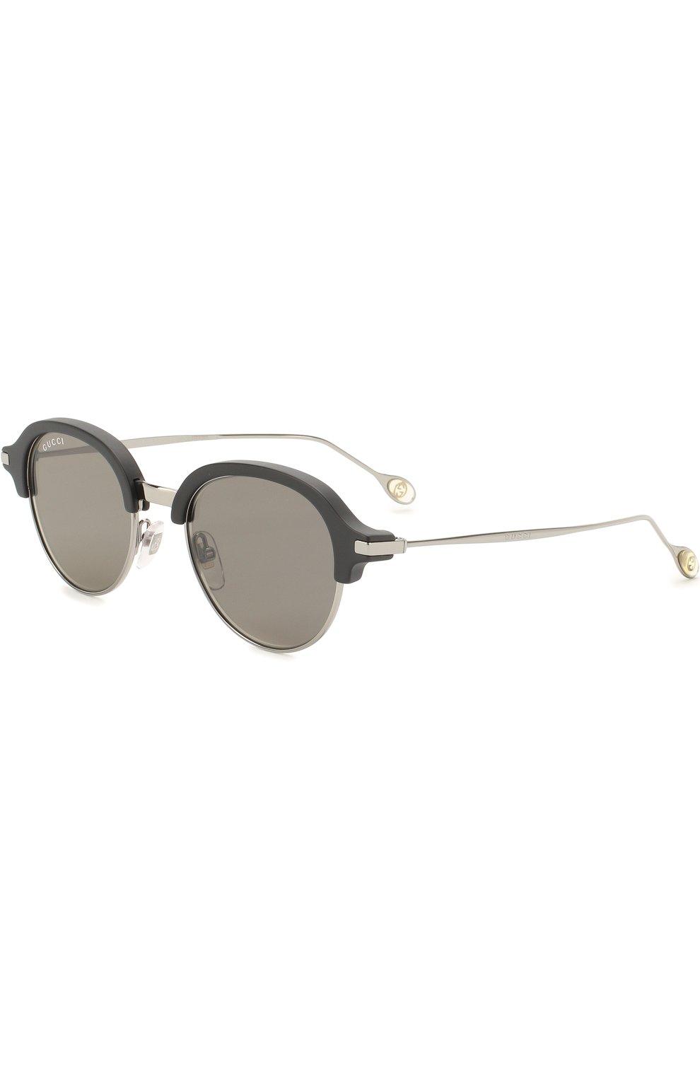 Женские солнцезащитные очки GUCCI серебряного цвета, арт. 2259 284 VX | Фото 1
