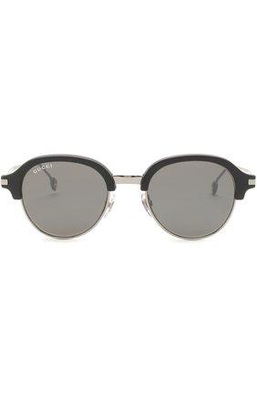 Женские солнцезащитные очки GUCCI серебряного цвета, арт. 2259 284 VX | Фото 2