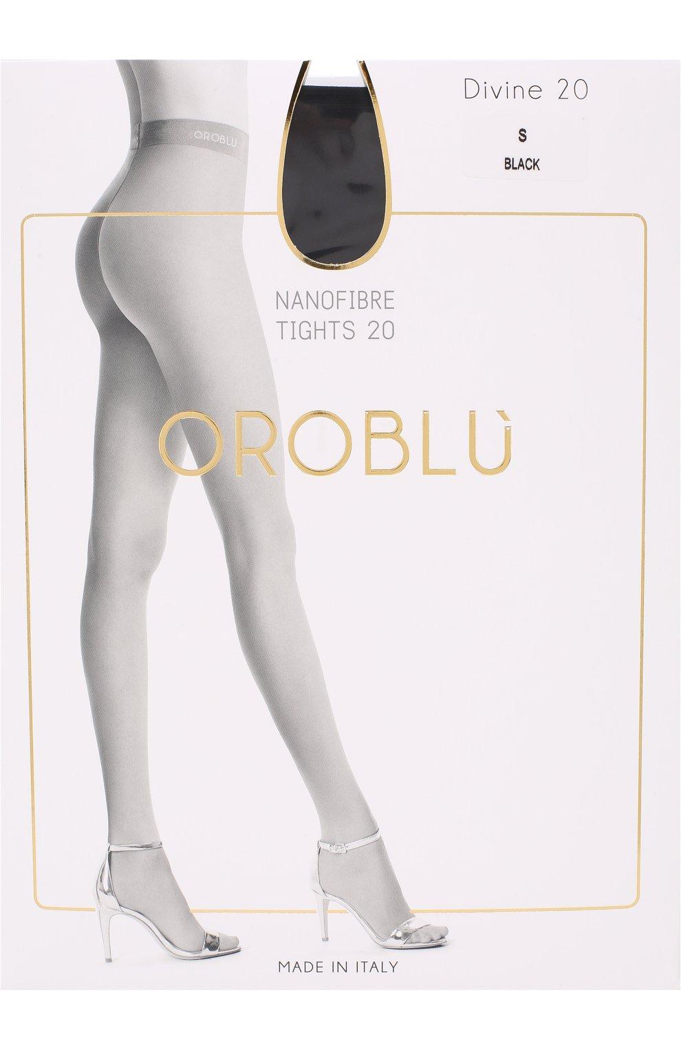 Женские капроновые колготки OROBLU черного цвета, арт. V0BC01571 | Фото 1