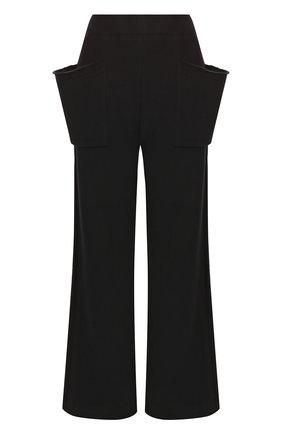 Хлопковые расклешенные брюки с накладными карманами | Фото №1