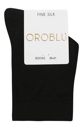 Женские шелковые носки OROBLU черного цвета, арт. V0BFS10SM | Фото 1