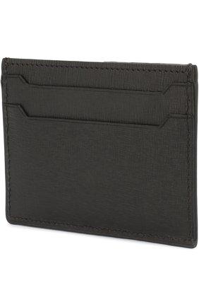 Мужской кожаный футляр для кредитных карт BRIONI черного цвета, арт. 0HY8/06750   Фото 2