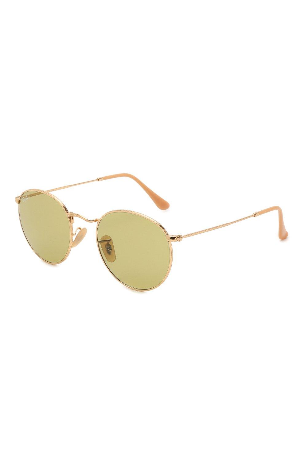 Женские солнцезащитные очки RAY-BAN золотого цвета, арт. 3447-90644C | Фото 1
