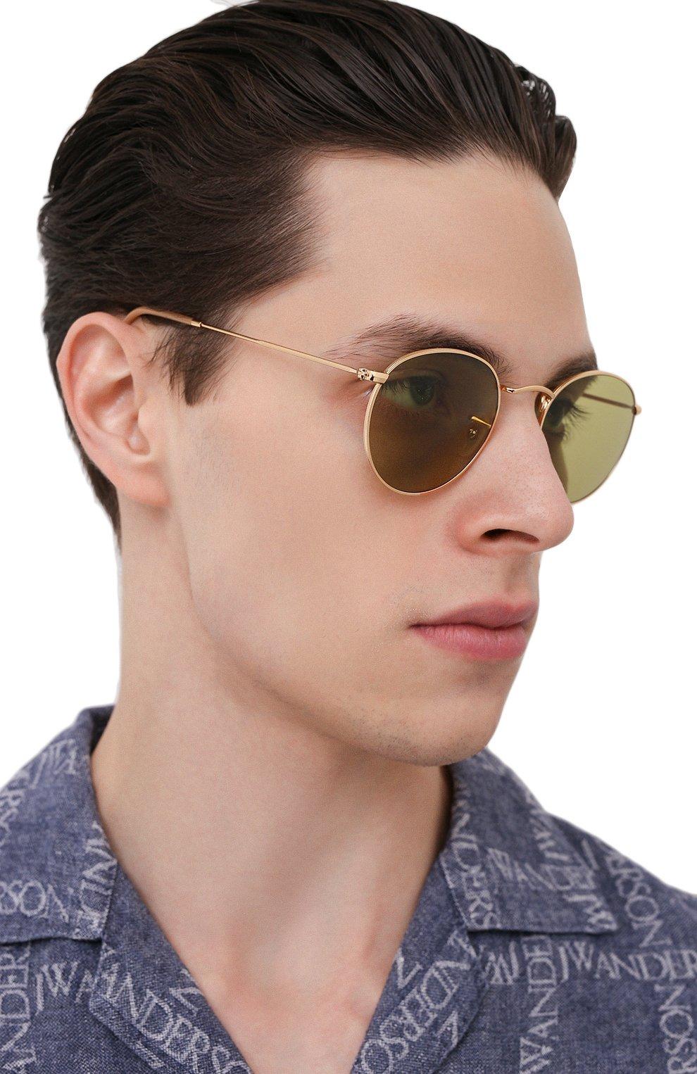 Женские солнцезащитные очки RAY-BAN золотого цвета, арт. 3447-90644C | Фото 3