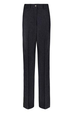 Однотонные джинсы прямого кроя со стрелками | Фото №1