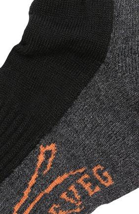Женские хлопковые носки с логотипом бренда NORVEG черного цвета, арт. 9ETMRU | Фото 2