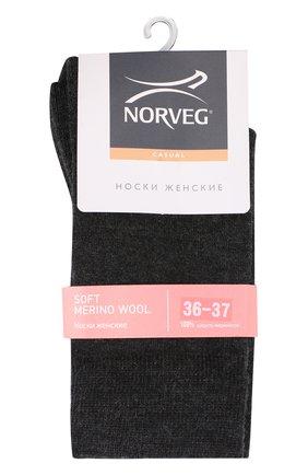 Женские шерстяные носки NORVEG темно-серого цвета, арт. 9SMWRU | Фото 1