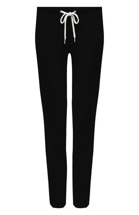 Женские брюки из смеси вискозы и хлопка MONROW черного цвета, арт. HB006AFT | Фото 1