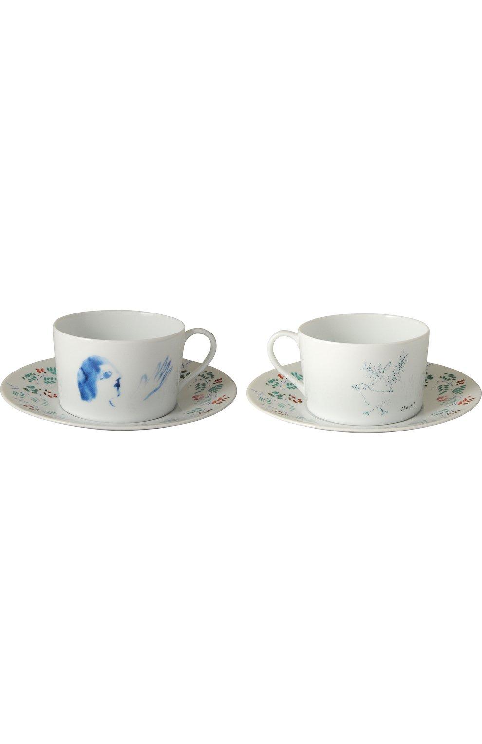 Мужская набор из двух чашек с блюдцами marc chagall BERNARDAUD разноцветного цвета, арт. 0088/83-2   Фото 1