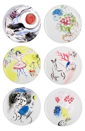 Набор из 6-ти обеденных тарелок Collection Marc Chagall   Фото №1