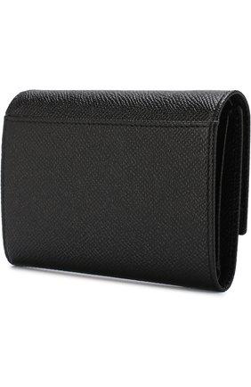 Женские кожаный кошелек DOLCE & GABBANA черного цвета, арт. BI0924/A1001 | Фото 2