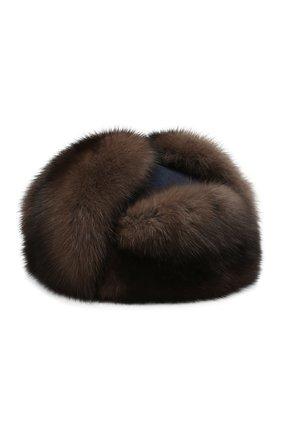 Кашемировая шапка Alaskan с меховой отделкой | Фото №1