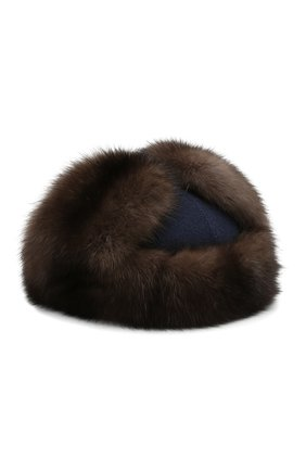 Кашемировая шапка Alaskan с меховой отделкой | Фото №2