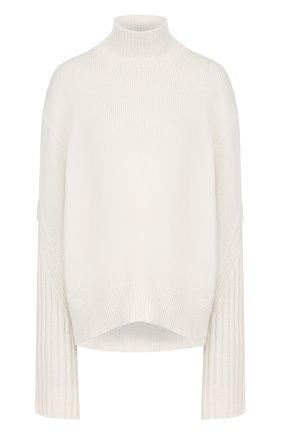 Однотонный кашемировый свитер свободного кроя   Фото №1