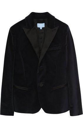 Бархатный пиджак с остроконечными лацканами | Фото №1