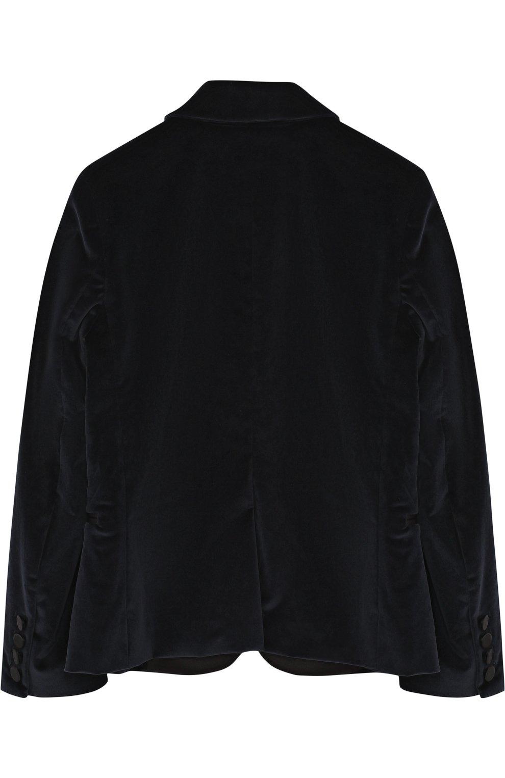 Бархатный пиджак с остроконечными лацканами | Фото №2