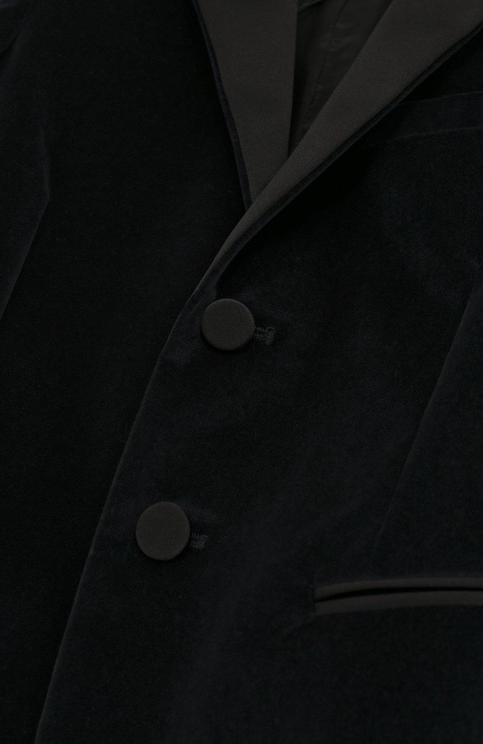 Бархатный пиджак с остроконечными лацканами | Фото №3