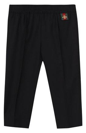 Шерстяные брюки с эластичным поясом | Фото №1