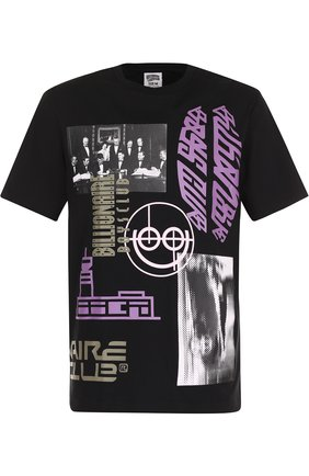 Хлопковая футболка с принтом Billionaire Boys Club черная | Фото №1