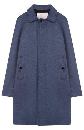 Кашемировое пальто прямого кроя | Фото №1