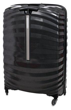 Женский чемодан на колесиках lite-shock spinner SAMSONITE черного цвета, арт. 98V-09004   Фото 2