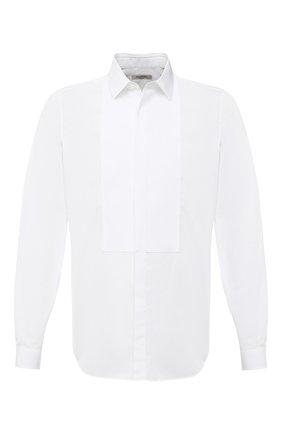Мужская хлопковая сорочка под смокинг VALENTINO белого цвета, арт. MV3ACR8C/3GU | Фото 1