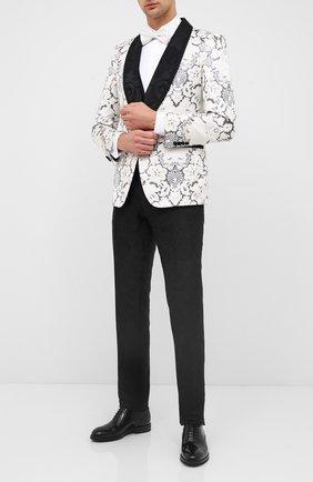 Мужская хлопковая сорочка под смокинг VALENTINO белого цвета, арт. MV3ACR8C/3GU | Фото 2