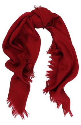 Платок из шерсти и шелка с бахромой | Фото №1