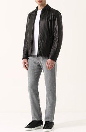 Мужские джинсы прямого кроя с потертостями GIORGIO ARMANI серого цвета, арт. 3ZSJ50/SD51Z | Фото 2