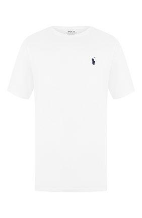 Мужская хлопковая футболка POLO RALPH LAUREN белого цвета, арт. 710680785 | Фото 1