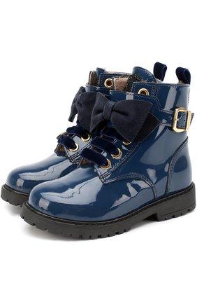Лаковые ботинки с бантом | Фото №1