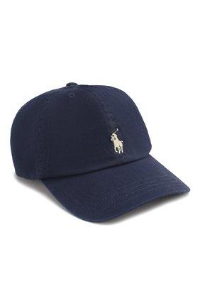 Детская бейсболка с логотипом бренда RALPH LAUREN синего цвета, арт. 323552489 | Фото 1